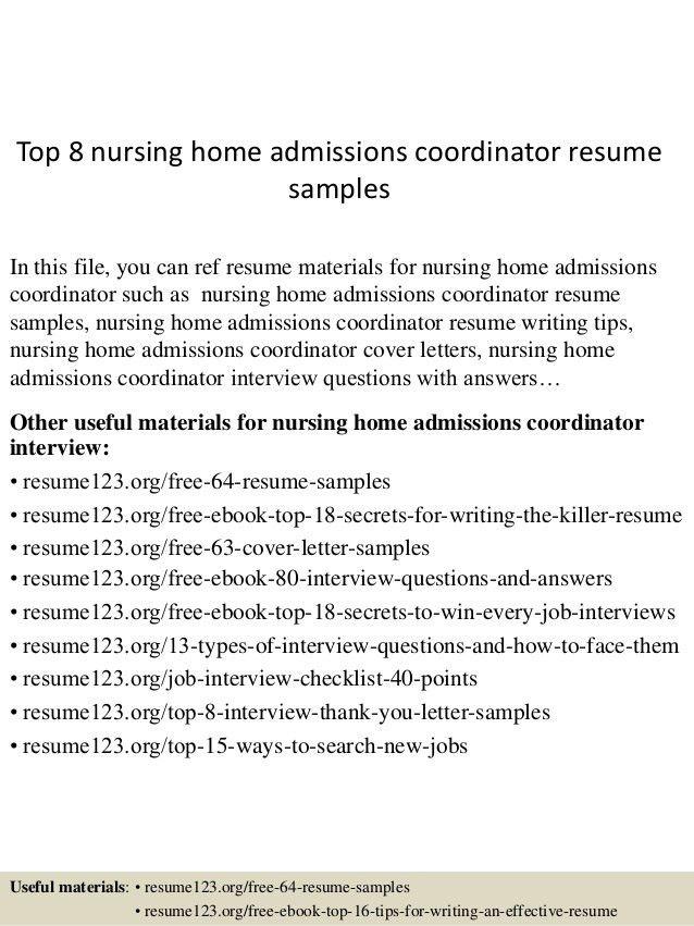 nursing home administrator sample resume node2002-cvresume - nursing home administrator resume