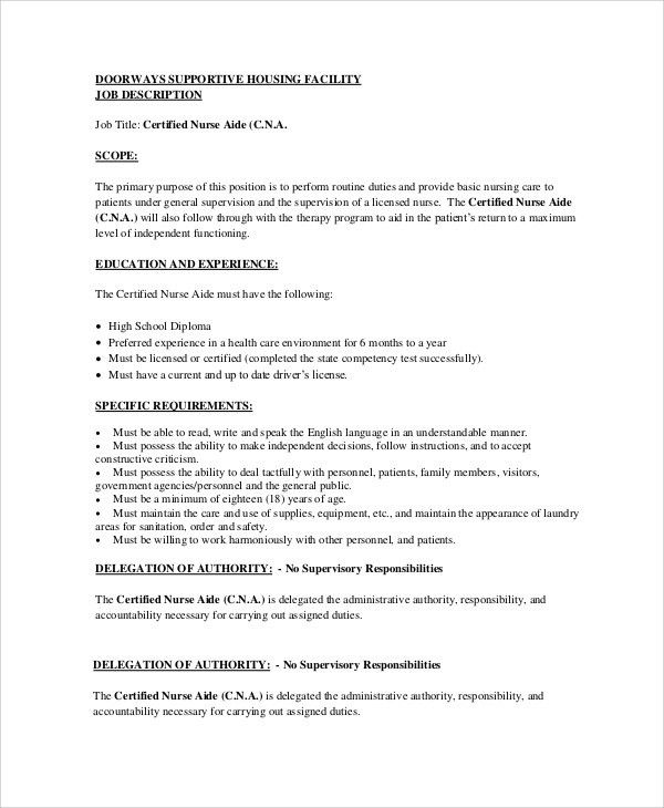 List Of Cna Duties The Patients Need Physical And Emotional - cna job description