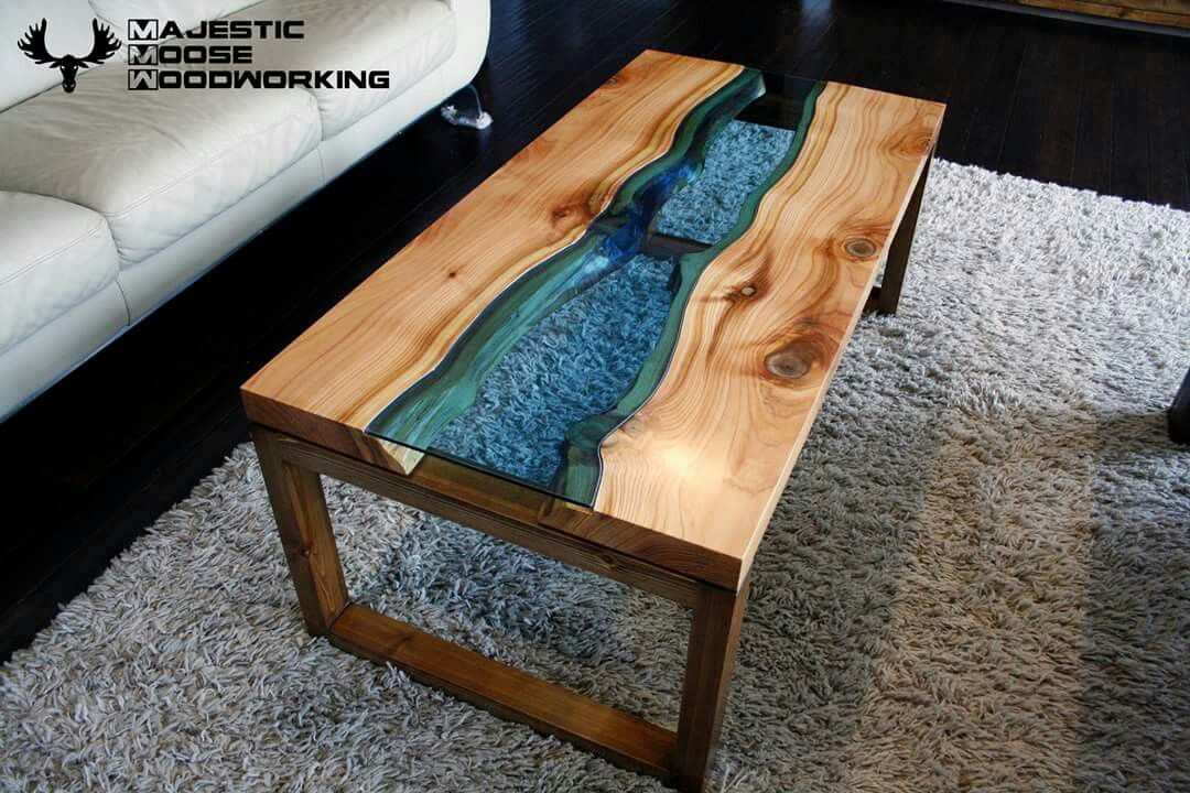 Western Red Cedar Live Edge River Coffee Table Mesas