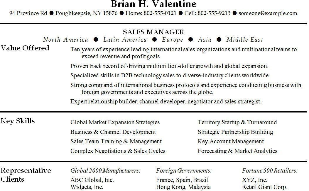 technology sales resume