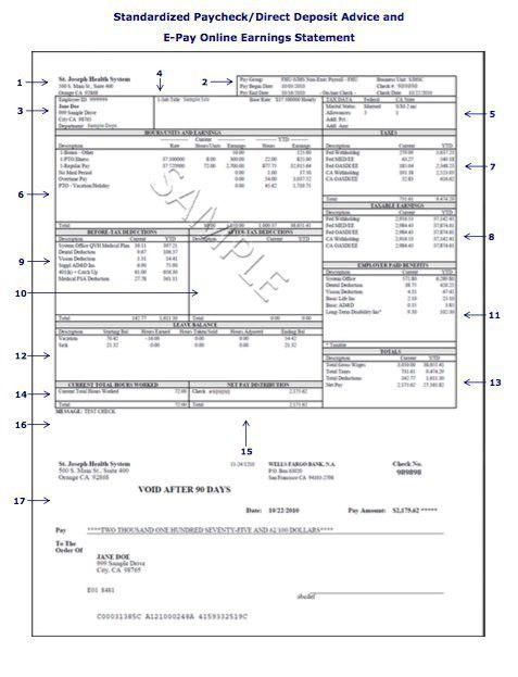 Paycheck Stub Template 3 Check Stub Templates Free Samples - payroll stub template free