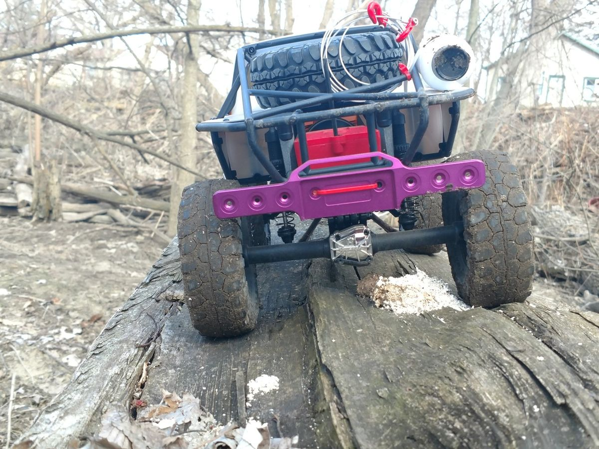 Vaterra Ascender with a GPM racing Traxxas Revo bumper