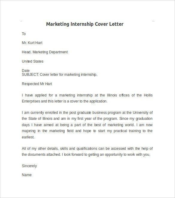 cover letter for marketing internship marketing cover letter marketing cover letter. Resume Example. Resume CV Cover Letter