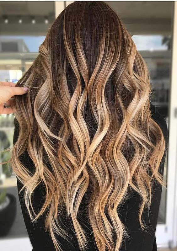 38 Gorgeous Looks of Caramel Highlights for 2018