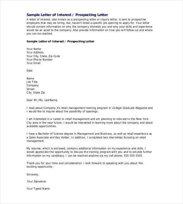 format of enquiry letter hitecauto - letter of interest format