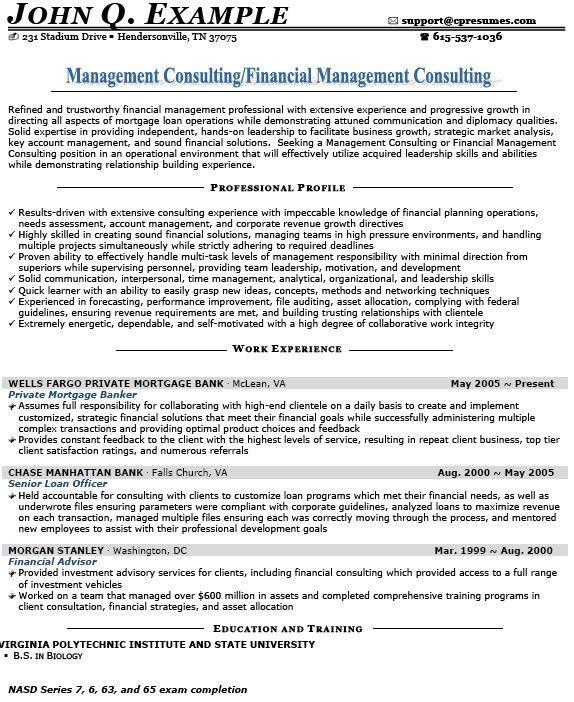 training consultant resumes