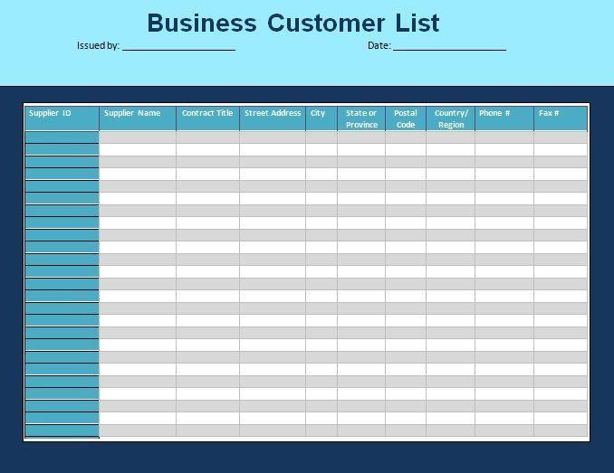 Client List Template Client List Template 6 Free Word Pdf - sample to do list