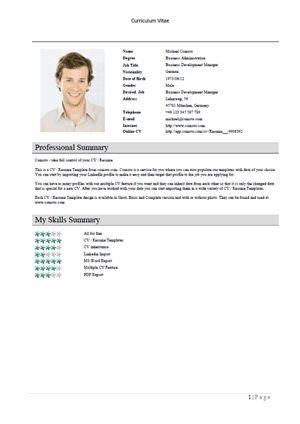 german resume example | cvresume.unicloud.pl