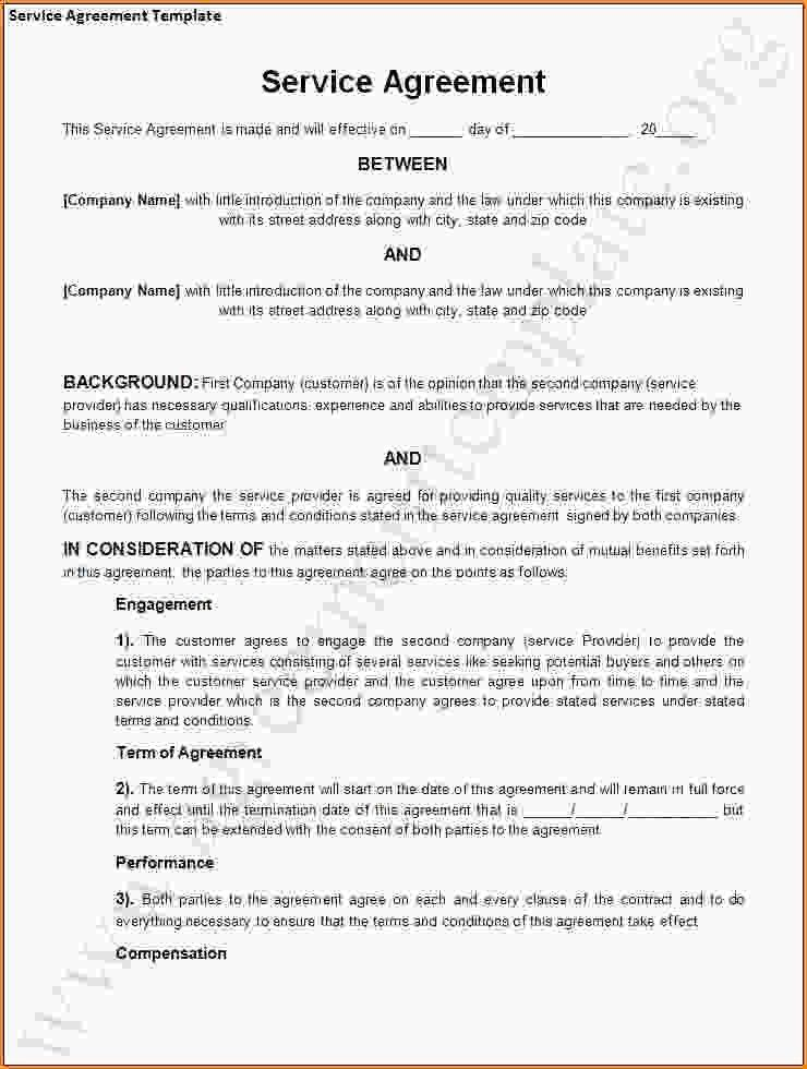 Free Service Agreement Template 14 Service Agreement Templates - business service agreement