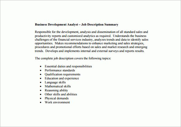 Data Analyst Job Description Sample Resume Data Analyst Job - research analyst job description