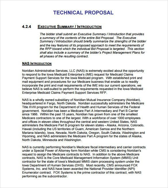Rfp Response Executive Summary Template Olletter