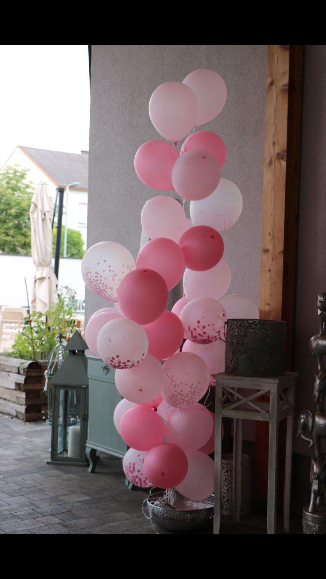 Ballonsrosataufemädchendeko Mädchen Taufe Deko Taufe