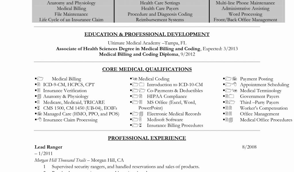 Medical Records Specialist Sample Resume Professional Medical