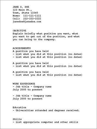 plain text resume example how to create a plain text ascii resume - Plain Text Resume Template