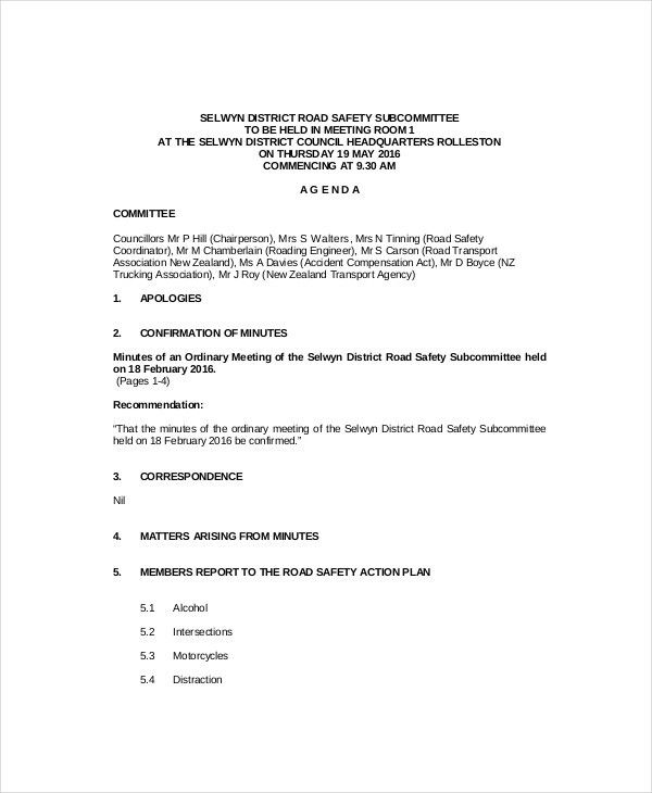 Sample Of Agenda Of Meeting Format Free Meeting Agenda Template - sample meeting agenda 2