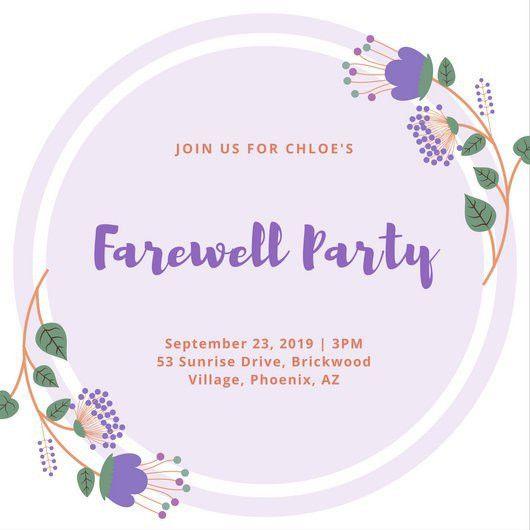 Farewell Invitations Templates Farewell Party Invitation Template - farewell invitations templates