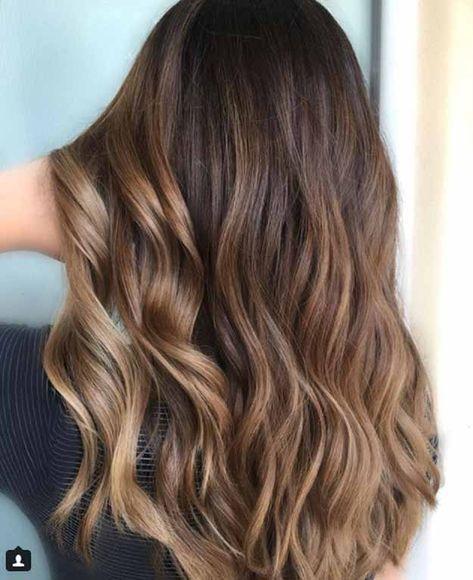 Balayage Hair Ideas in Brown to Caramel Shades