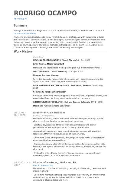 media relation manager resume vinodomia public relations resume