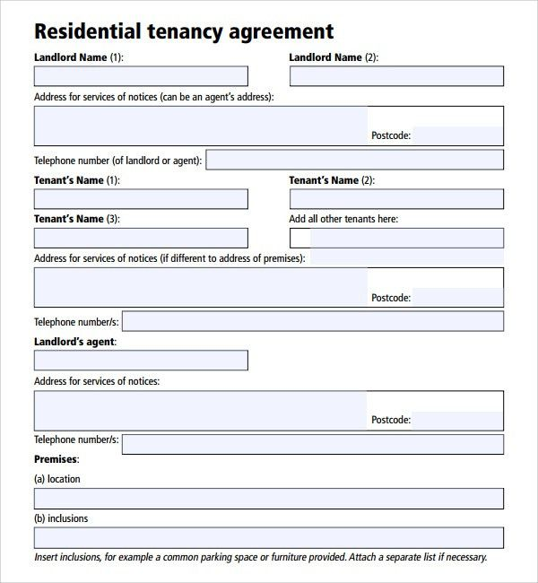 Landlord Agreement Template Tenancy Contract Template Microsoft - parking agreement template