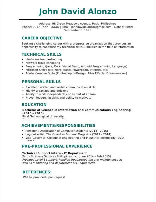Traditional Resume Format Traditional Resume Templates To Impress - impactful resume update