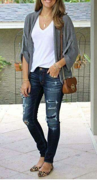 Chic fall time outfit with basics