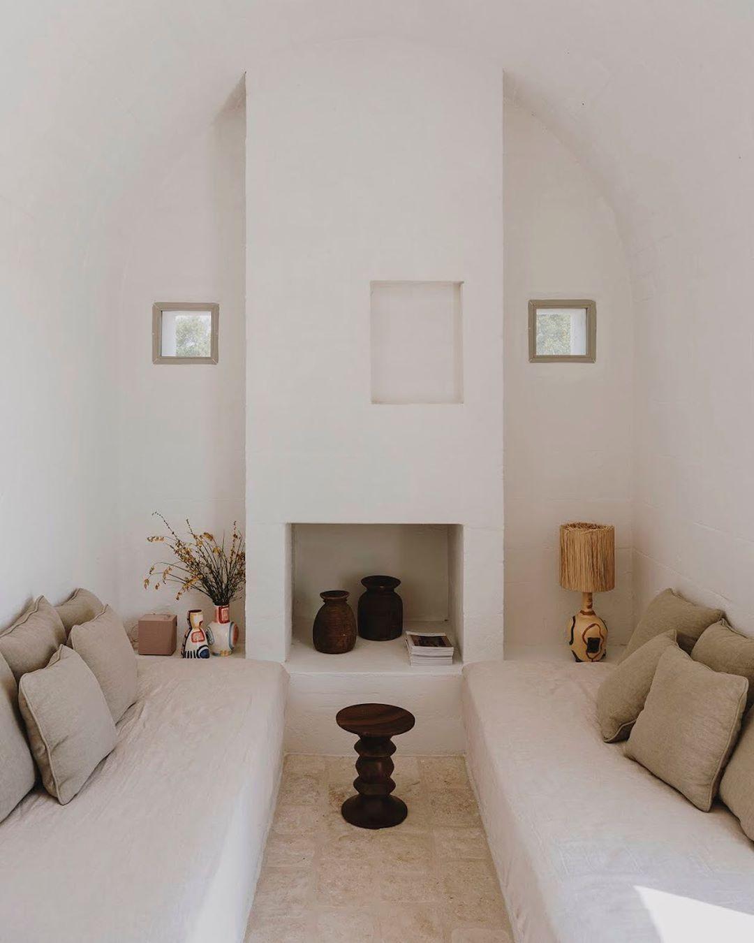 "Studio Andrew Trotter on Instagram: ""A quiet place to read, or a third bedroom. Villa Cardo. Photo by @salvalopez . . #villacardo #carovigno #puglia #pugliamia #pugliagram…"""