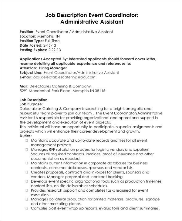 event coordinator assistant cover letter | resume-template ...