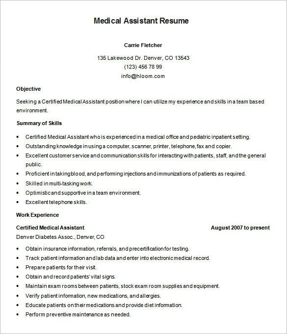 Medical Assistant Skills Resume Certified Medical Assistant - skills for medical resume
