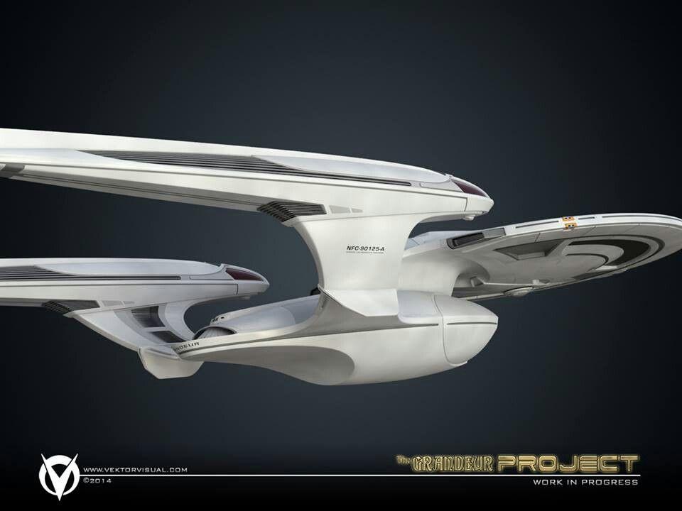 Luna class starship star trek and beyond pinterest for Wohnung star trek design
