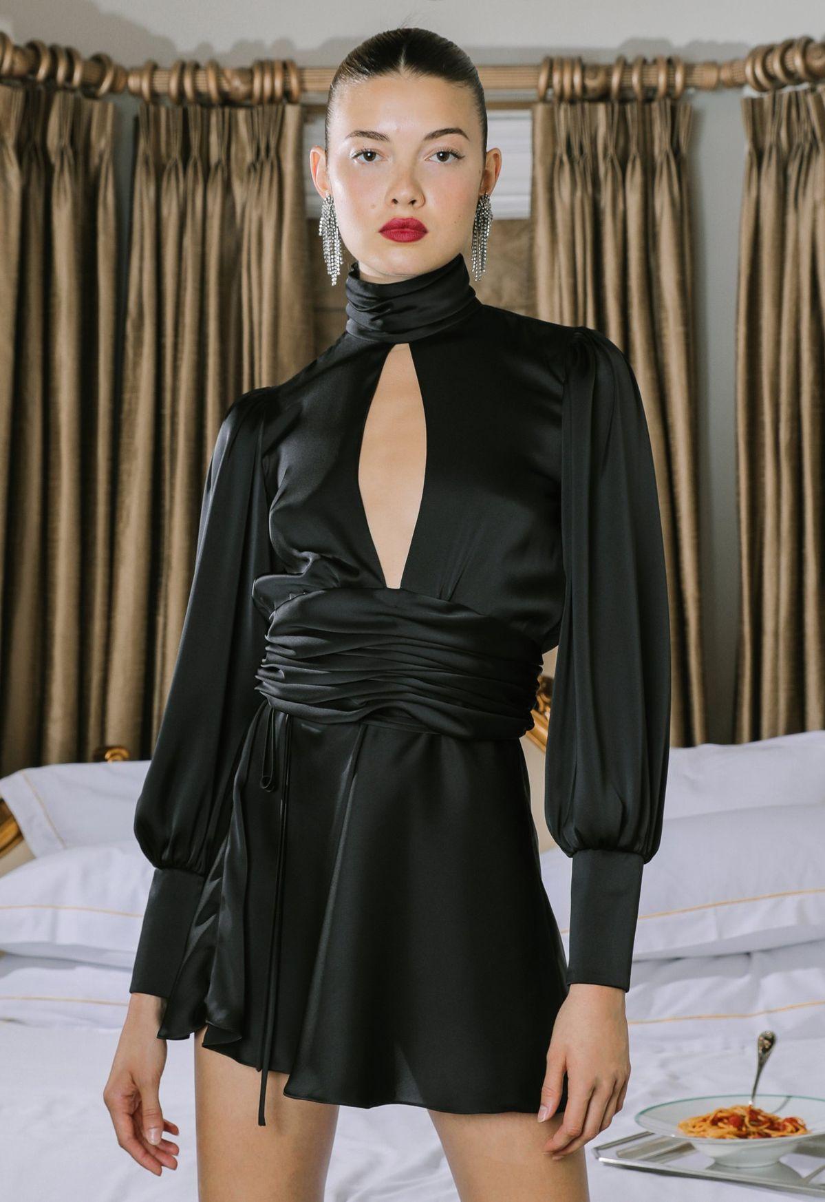 NIGHT OUT DRESS BLACK   Orseund Iris