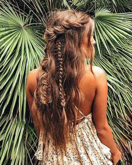 Half up half down wedding hairstyles for 20182019 00007