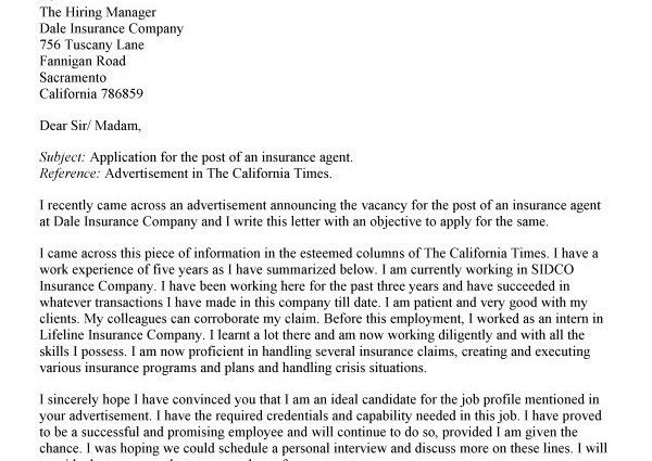 Leasing Consultant Cover Letter Cover Letter Apartment Leasing - Cover letter insurance
