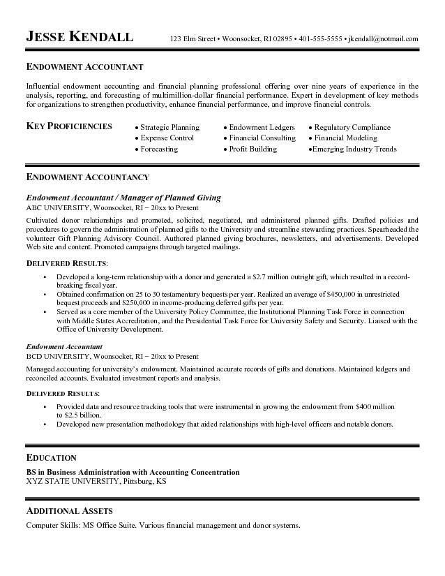 accounting resume format
