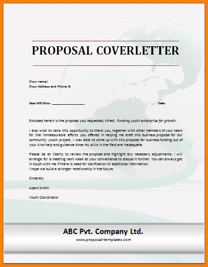 Cover Letter Proposal Sample Business Proposal Cover Letter 7 - cleaning proposal letter