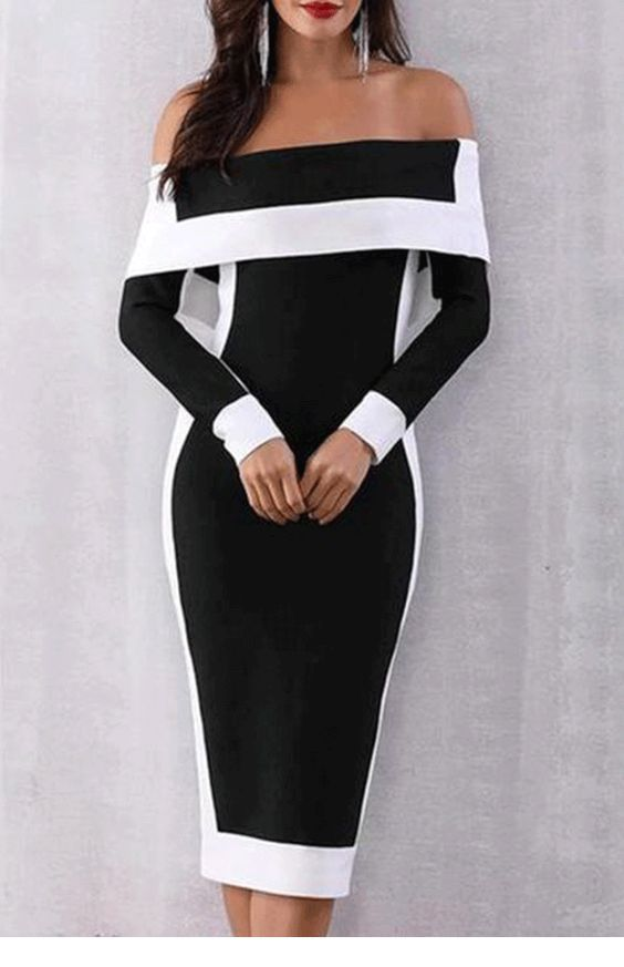 My kind of black and white dress