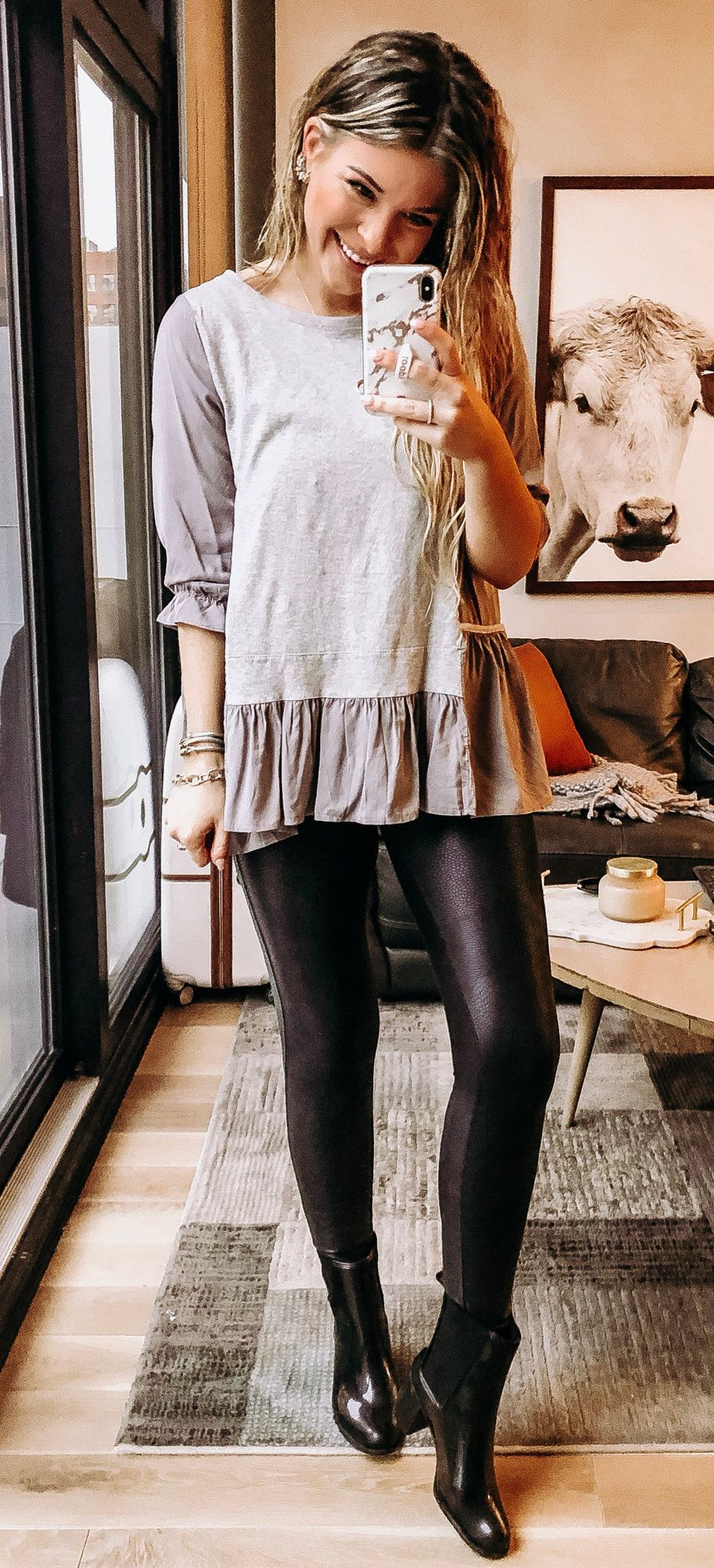 white long-sleeved blouse #summer #outfits