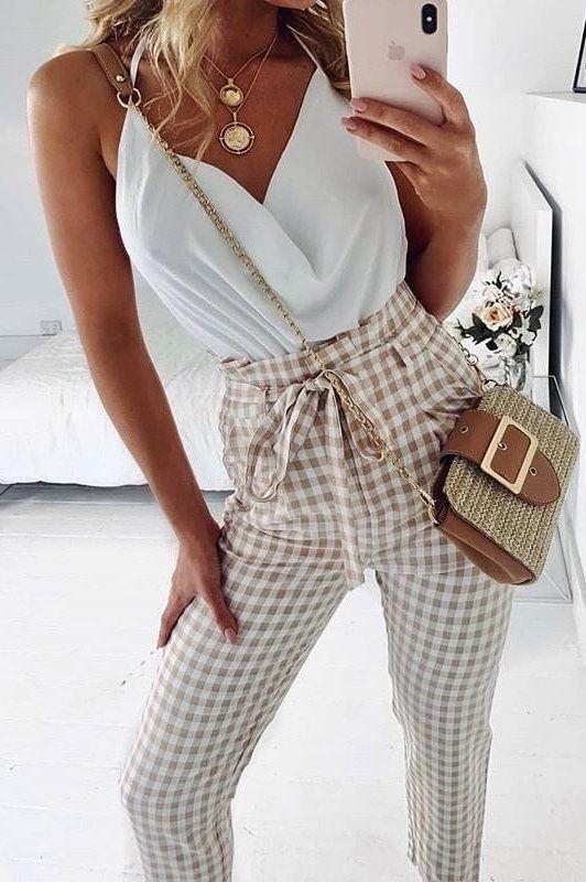 white spaghetti strap tops #spring #outfits