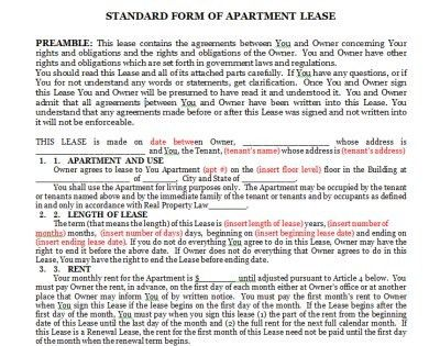 Simple Lease Template Sample Lease Agreement Free Download - blank lease agreement example