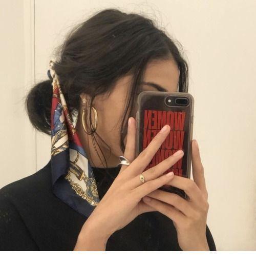 Cute scarf for my bun