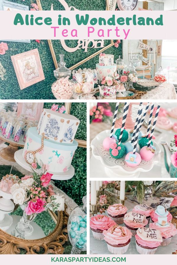 Kara's Party Ideas Alice in Wonderland Tea Party | Kara's Party Ideas