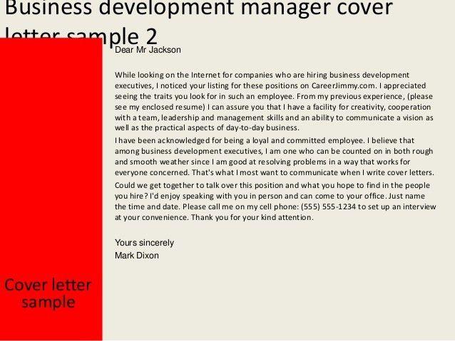 Business Development Administrator Cover Letter Env1198748