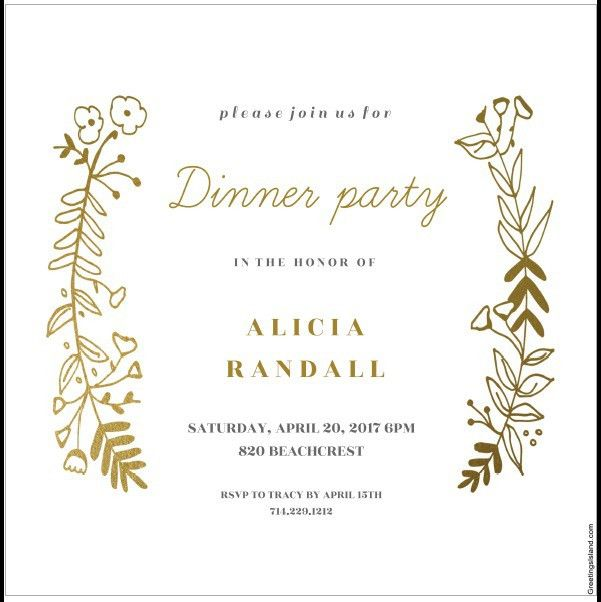 Dinner Card Template Printable Rehearsal Dinner Invitation Card - dinner party menu template