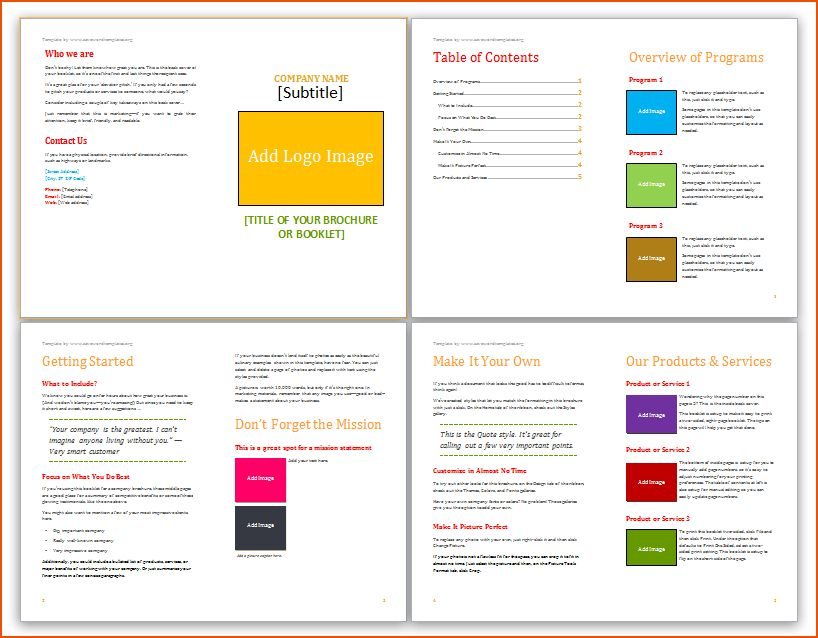 Word Template Booklet Booklet Office Templates, 8 Microsoft Word - microsoft word book template