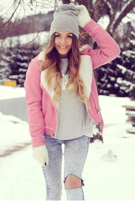 Nice pink winter jacket