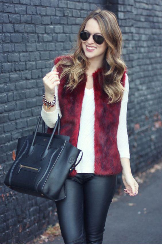 Amazing burgundy vest