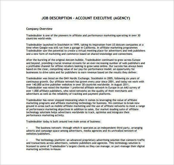 Job Description For Insurance Agent Sample Insurance Agent Job - account management job description
