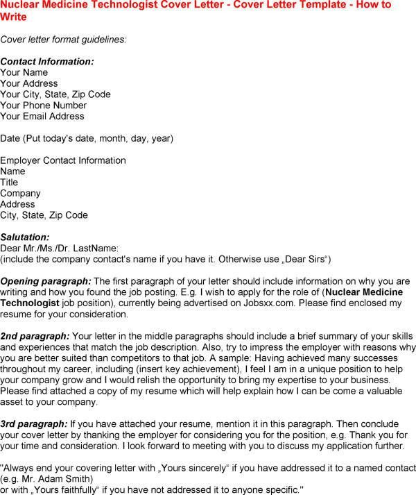Cover Letter For Medical Technologist Medical Technologist Cover