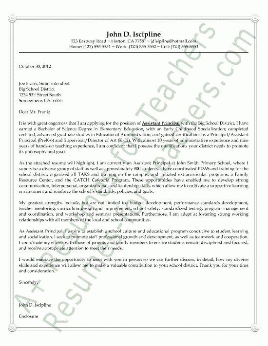 school principal resume