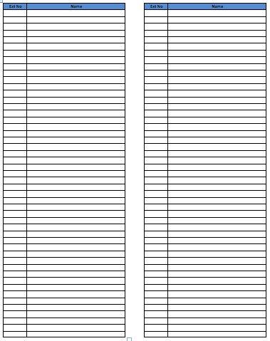 Phone List Template Address And Phone List Office Templates - phone list templates