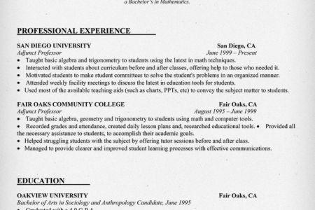 resume for adjunct professor snapwit co